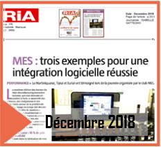 Article de presse magazine RIA