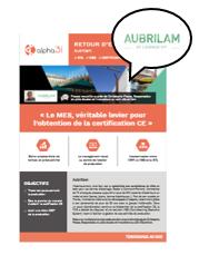 Logiciel MES avis client, suite logicielle MES Cimag production, Gestion des accès, Aubrilam