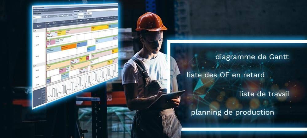 logiciel MES, ordonnancement, management visuel